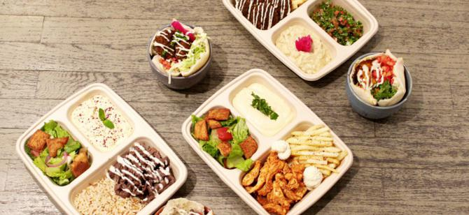 May contain: examples of dishes served in the Toum restaurant, interior or exterior of Toum restaurant