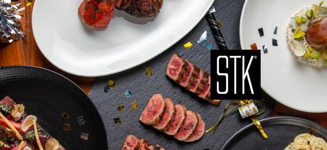 May contain: examples of dishes served in the STK Steakhouse - Kinzie St restaurant, interior or exterior of STK Steakhouse - Kinzie St restaurant